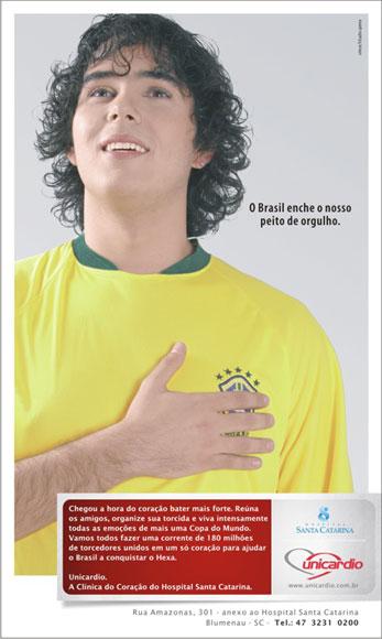 Anúncio publicado na véspera do Primeiro Jogo do Brasil na Copa do Mundo de 2006