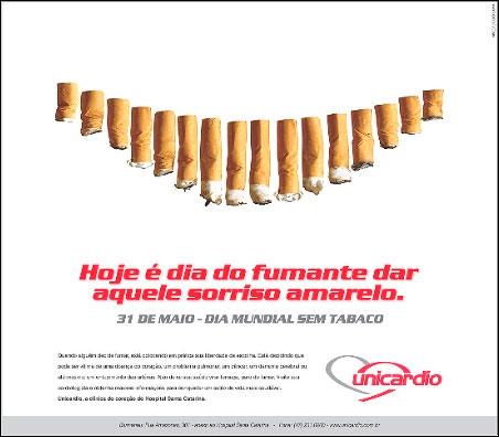 Anúncio veiculado no dia 31/05/03 no JSC sobre o Dia Mundial sem Tabaco (2003)